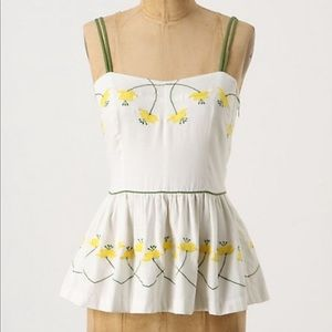 Anthropologie Embroidered Cami - Size 12